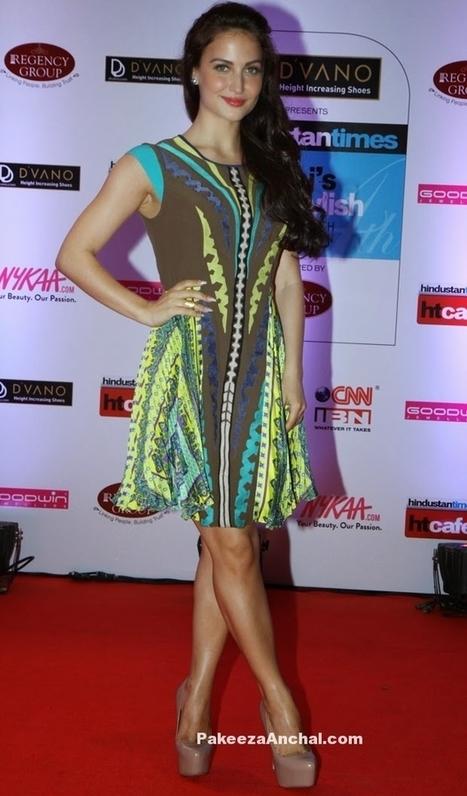 Elli Evram in Short Printed Skirt at HT Mumbai's Most Stylish 2015 | Indian Fashion Updates | Scoop.it
