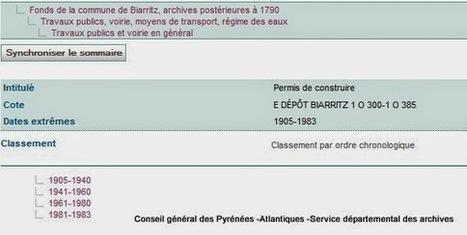 Retours vers les Basses-Pyrénées: Comment rechercher en ligne un permis de construire de Biarritz ? | GenealoNet | Scoop.it