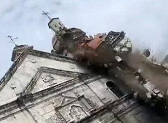 Amateur pictures capture church collapse in Philippines quake - euronews | Photography | Scoop.it