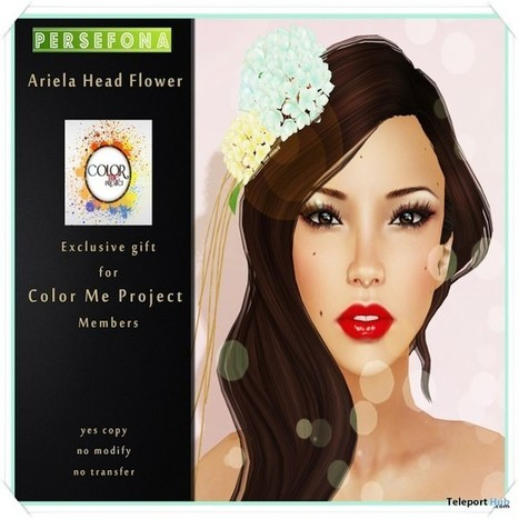 Ariela Head Flower Color Me Project Group Gift by Persefona | Teleport Hub - Second Life Freebies | Second Life Freebies | Scoop.it