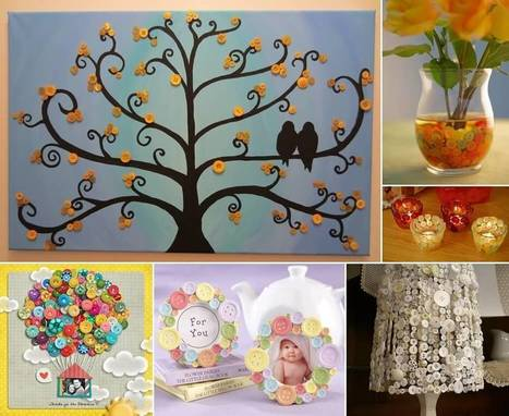 10 Cute Button Crafts for Your Home Decor | Amazing interior design | Scoop.it