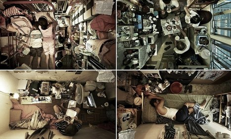 Hong Kong's human battery hens: Claustrophobic images show how slum families squeeze their lives into the tiniest apartments | Poverty & Equality | Scoop.it