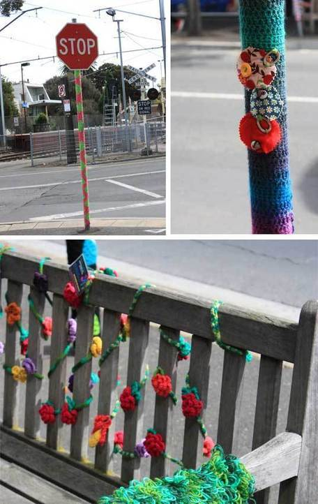 Yarn bombing hits bayside Melbourne in broad daylight - State of Green | Sustainable living | Scoop.it