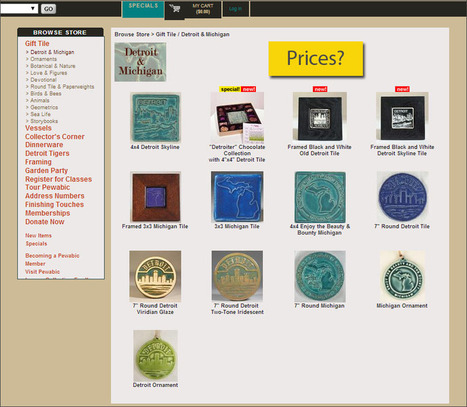 Please, Pewabic, Redesign Your Site! Ecommerce Outtakes | ECommerce Outtakes | Scoop.it