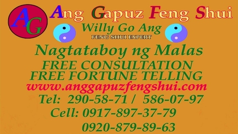 MANILA FENG SHUI EXPERT WILLY GO. ANG OFFER FREE CONSULTATION | PHILIPPINE FENG SHUI EXPERT MR. ANG OFFER FREE CONSULTATION | Scoop.it