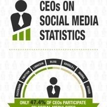 CEOs on #SocialMedia Statistics - #Infographic | Social Media e Innovación Tecnológica | Scoop.it