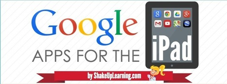 The Guide to Google Apps for the iPad [infographic] - Updated! (31 Apps!) - Shake Up Learning | Technology in Education | Scoop.it