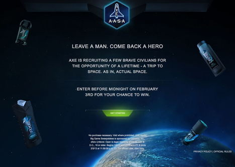 AXE offers 22 suborbital space flight seats for brave civilian contestants | Amazing Science | Scoop.it