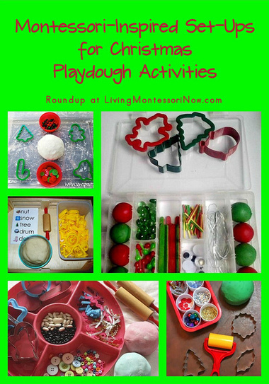 Montessori-Inspired Set-Ups for Christmas Playdough Activities | Montessori Inspired | Scoop.it