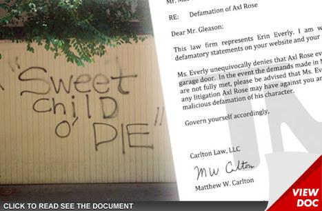 Axl Rose's Ex-Wife Backs Him Up -- Axl Didn't Graffiti My House! - TMZ.com | Gangs of East L.A | Scoop.it