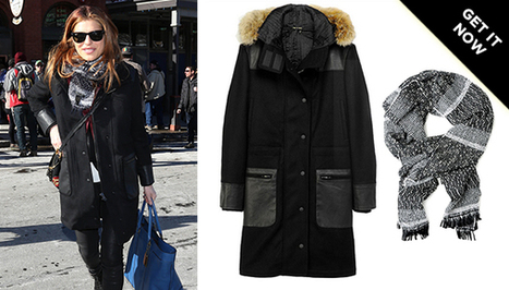 Get Blizzard-Ready In Lake Bell's Rag & Bone Coat And Scarf From Sundance | Designer | Scoop.it