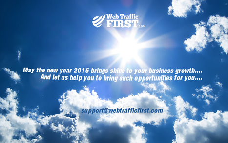 Bring the sunshine to your business growth in this new year. | Web Traffic First | Scoop.it