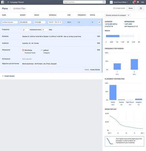 Facebook Adds Campaign Planner Feature to Business Manager | Digital Brand Marketing | Scoop.it