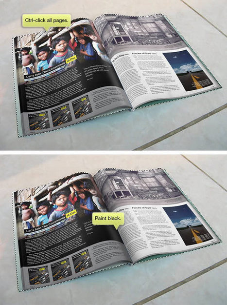 Create a Magazine Mockup Using InDesign and Photoshop | Psdtuts+ | Creative Designers | Scoop.it