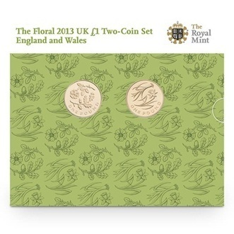 The Floral 2013 UK £1 Two-Coin Set England and Wales   The Royal Mint   The Royal Mint   Scoop.it