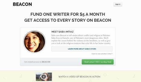 Rémunérez directement votre journaliste favori sur Beacon | Les médias face à leur destin | Scoop.it