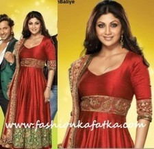 Shilpa Shetty Style Red Anarkali - Nach Baliye 5 Launch | Big sale at Fashionkafatka.com!!! | Scoop.it