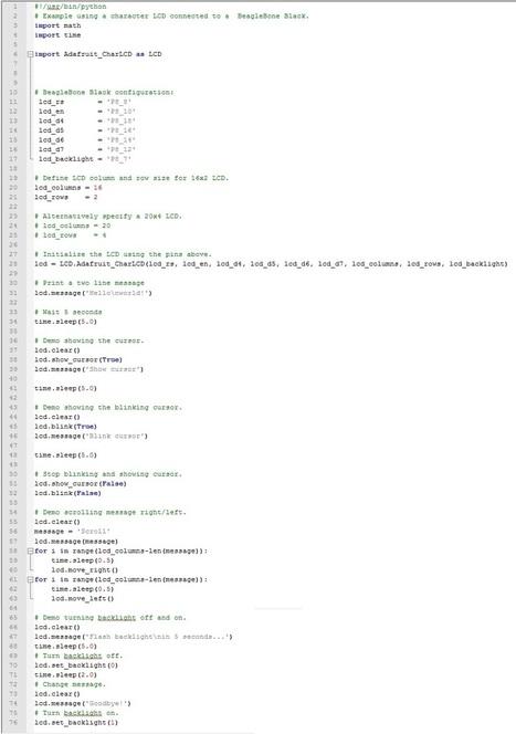 BeagleBone – LCD interfacing | Raspberry Pi | Scoop.it
