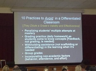 """Ten Practices To Avoid In A Differentiated Classroom"" 