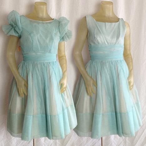 vintage 1950s chiffon party dress | QuiteQuainte | Scoop.it