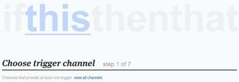 Using ifttt to archive your tweets   Thomas Davis freelance designer and developer   Twitter in de klas   Scoop.it