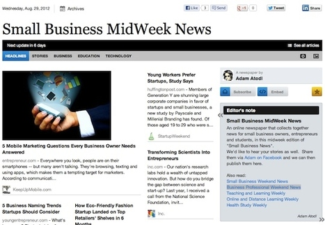 Aug 29 - Small Business MidWeek News is out | Transformations in Business & Tourism | Scoop.it