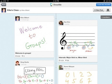 ShowMe Now Offers the Option to Create Class Groups | iPads, MakerEd and More  in Education | Scoop.it