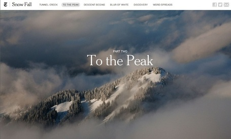 How We Made Snow Fall - Features - Source: An OpenNews project | Texten fürs Web | Scoop.it