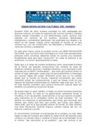 Gran Revolucion Cultural Del Mundo | MISIONARTE REALIDAD HUMANA | Scoop.it