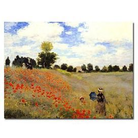 Field of Poppies, c.1886 Oil Painting by Claude Monet Free Shipping - Oilpainting-shop.com | OilPainting-Shop.com | Scoop.it
