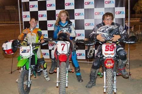 Another 65cc podium shot.  Wendy, you are right to point out that they aren't on...   California Flat Track Association (CFTA)   Scoop.it