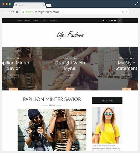 Life Fashion Clean and Responsive Free Blogger Template | Designrazzi | Blogger themes | Scoop.it