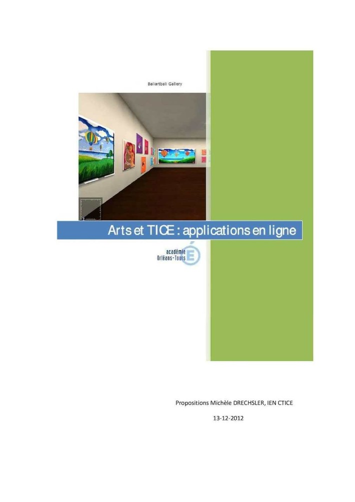 TICE et art. Applications interactives pour créer, dessiner en ligne (Michèle Drechsler) | TIC et TICE mais... en français | Scoop.it
