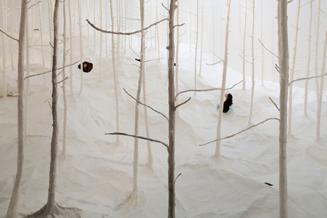 takashi kuribayashi installs paper forest at the sapporo art museum - designboom | architecture & design magazine | Maths and Paper-engineering | Scoop.it