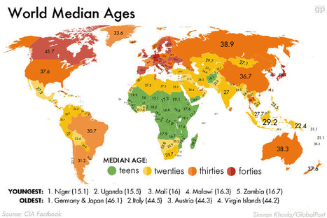 Oldest and Youngest Populations | geo | Scoop.it