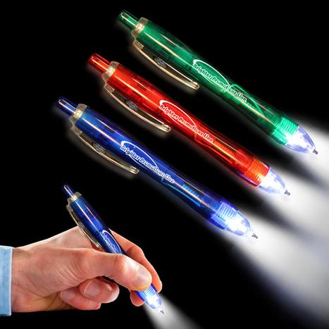 Blue Ultimate Lighted LED Glow Pen | Adventure | Scoop.it