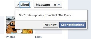 Facebook prompts fans to get notifications after liking a page | Super Social Media | Scoop.it