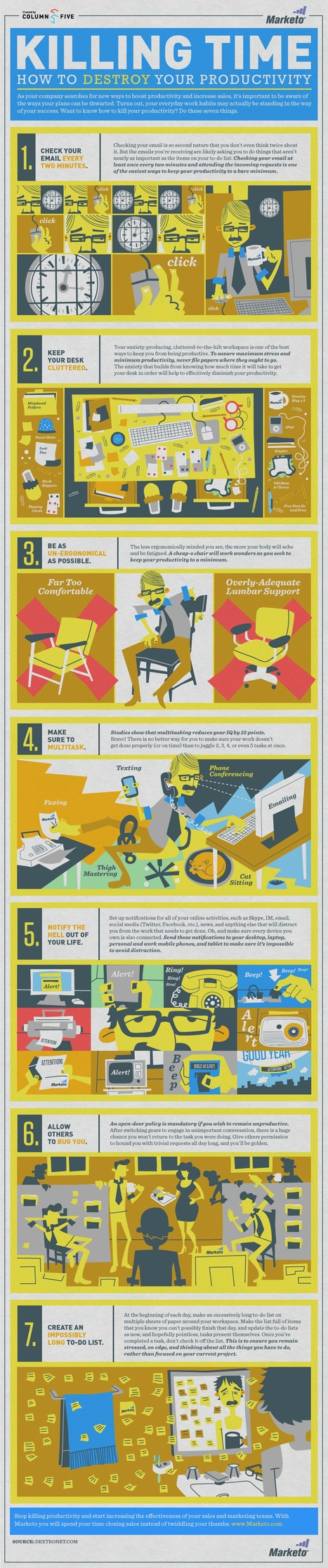 Killing Time: How to Destroy Your Productivity | Visual.ly | Infographics for English class | Scoop.it