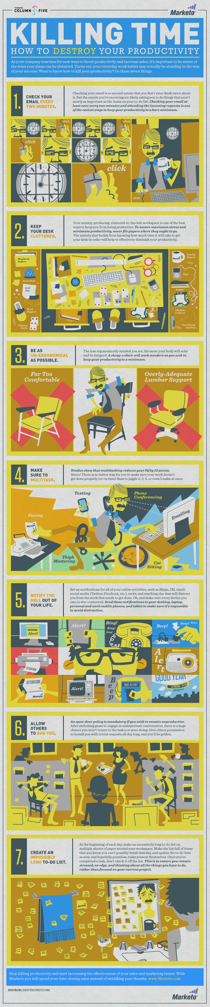 Killing Time: How to Destroy Your Productivity [Infographic] | Coaching Leaders | Scoop.it