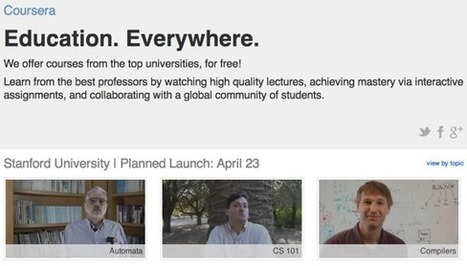 Coursera, the Other Stanford MOOC Startup, Officially Launches with More Poetry Classes, Fewer Robo-Graders   M-learning, E-Learning, and Technical Communications   Scoop.it