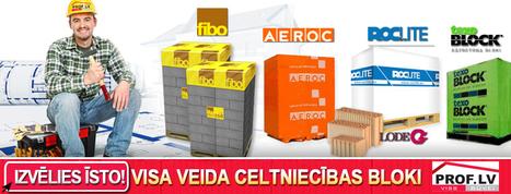 Aeroc, Fibo, TexoBlock, Roclite BLOKI būvēm | www.prof.lv | Būvmateriāli - Prof.lv! Būvmateriālu interneta veikals. | Scoop.it