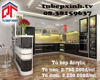 Tủ bếp, kệ bếp, phụ kiện tủ bếp với giá tốt nhất tại TP HCM 08.38159637 - 08.38159639: Tủ bếp, tủ bếp Acrylic tông màu đen trắng ấn tượng nhà chị Hoa tại Đắk Lắk | Tủ bếp, tủ bếp hiện đại với thiết kế đẹp, mang niềm vui đến gia đình bạn | Scoop.it