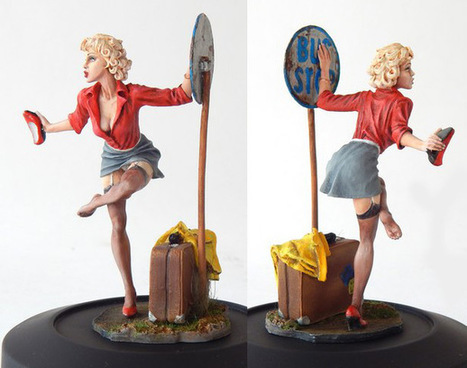 Bus stop | Miscellaneous Figures, Fantasy, Sci-Fi | Gallery on Diorama.ru | Francois' Scale Modeling Gazette | Scoop.it