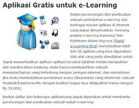 Aplikasi gratis e-learning | e-learning in indonesia | Scoop.it