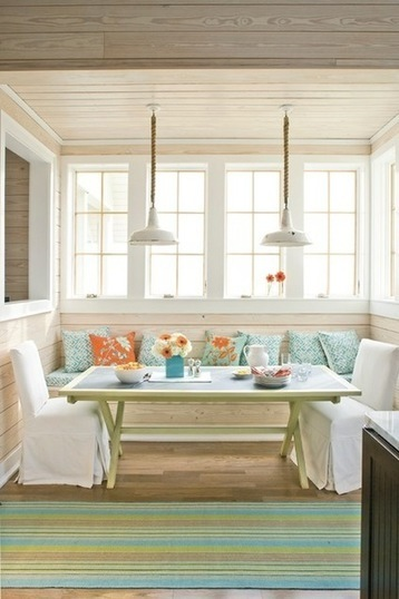 10 Rise-and-Shine Color Combos for Breakfast Nooks | Designing Interiors | Scoop.it