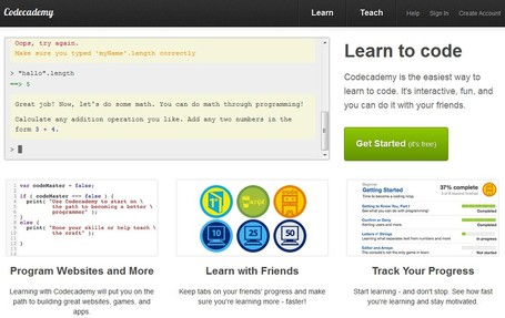 Interactive Learning to code: Codecademy | Wiki_Universe | Scoop.it