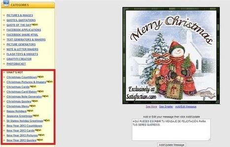 Una gran colección de imágenes, textos, postales y christmas animados para personalizar y compartir | Recull diari | Scoop.it
