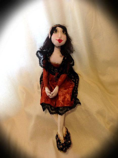 OOAK Pixie Cloth Art Doll - Elizabeth   Cloth art dolls   Scoop.it