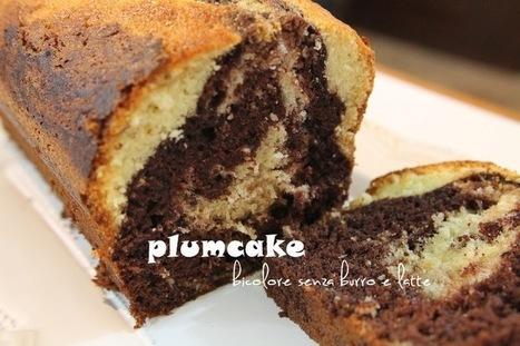 cucchiaio e mattarello: plumcake bicolor - dolce senza burro e latte   cucchiaio e mattarello   Scoop.it