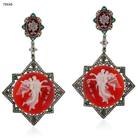 Designer Emerald Cameo Earrings | Wholesale Jewelry | GemcoDesigns | Pave Diamond Bracelets | Diamond Jewelry | GemcoDesigns | Scoop.it